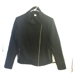 Old Navy Active Black Moto knit jacket M
